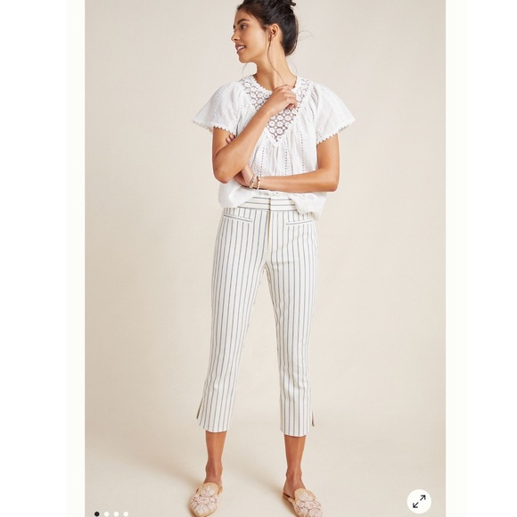 Anthropologie Sz 8 - Essential Capri Trousers